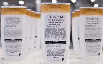 L'Oréal Argentina produce alcohol en gel para colaborar en la lucha contra el coronavirus