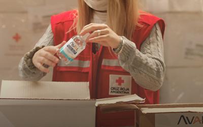 Alicorp, a través de su marca Intra Aval dona 25 mil unidades de alcohol en gel a la Cruz Roja