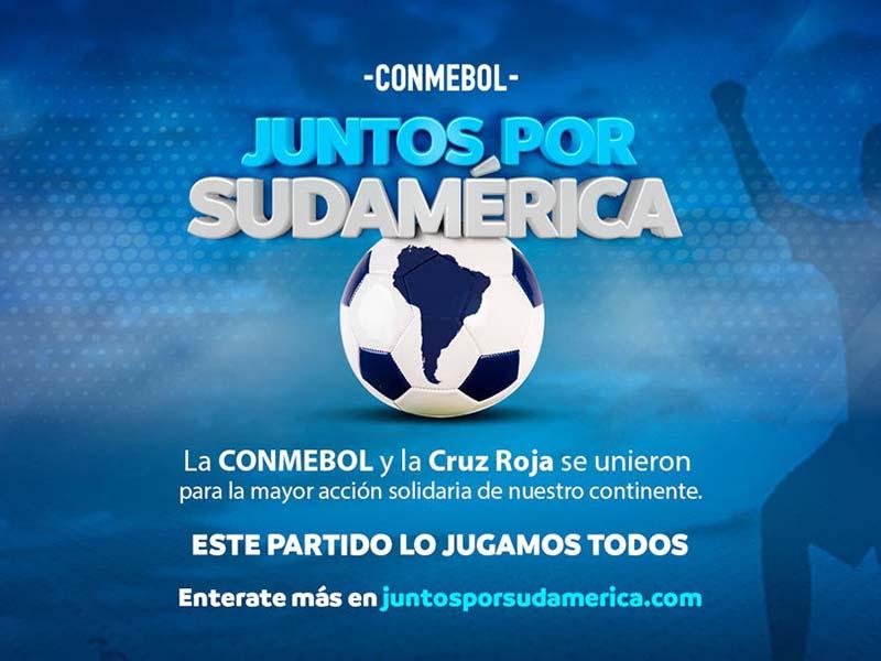 CONMEBOL lanza una campaña solidaria junto a la Cruz Roja